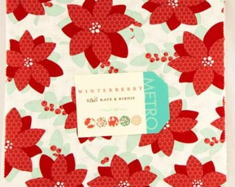 """Winterberry Layer Cake 10"""" Squares From Kate & Birdie and Moda"""
