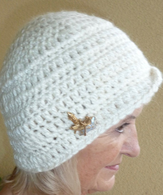White Winter Hat Unique Women Clothing Whimsical Bauble