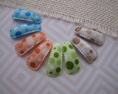 Baby Color Bubbles . baby snap clips . toddler hair accessory . orange green brown blue