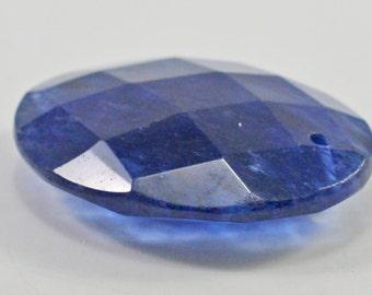 Blueberry Quartz pendant, faceted, 35x48mm - #1359