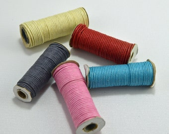 Waxed cotton cord, round, 2mm, various colors - #1694