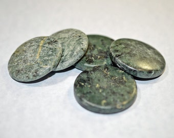 Green marble coins, matte finish - #1256