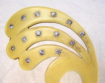 Translucent Celluloid Hair Comb Art Deco Hair Pick Hair Pin Decorative Comb Hair Accessory Hair Jewelry