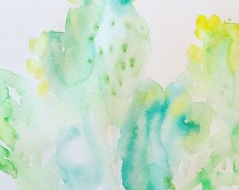 Prickleberries- 11x15- original watercolor painting