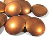 "Copper Discs Enameling Supplies Twenty Five (25) Stamping Blanks Engravable COPPER 18 Gauge 1"" Blanks Enamel Jewelry Supplies (J172)"