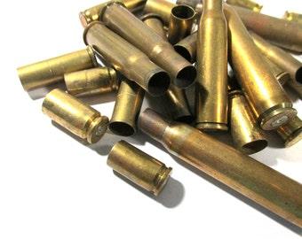 Bullet Casings BRASS Assorted Lot Twenty Five (25) Jewelry Art Supplies Ammo BULLETS Empty Brass Rounds Empty Cases Reloads Destash (T239)