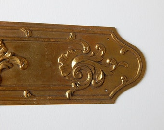 large french keyhole plate door plate large long metal decoration