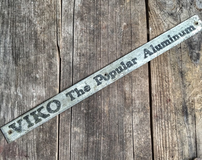 Vintage Sign Viko Popular Aluminum Industrial Metal Decor