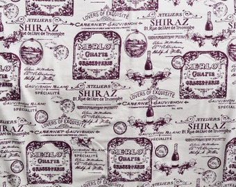 Wine label print Flannel pajama pants print lounge dorm made to order your choice size XS - 2X