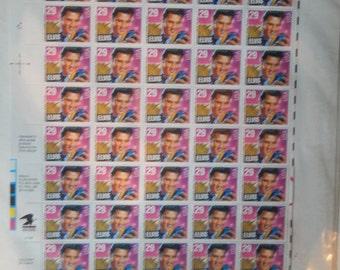 Sheet of Elvis Presley Stamps
