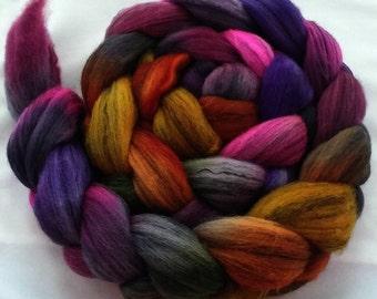 "Hand Dyed Merino/Tencel 4Oz. ""Colored Raindrops"""