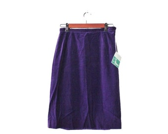 50% half off sale // Vintage 50s Majestic Purple Pencil Skirt - Women M - Deadstock NOS New with Tags