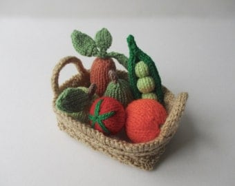 Fruit and Vegetables toy knitting patterns