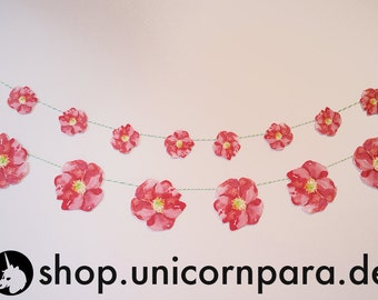 Watercolour Wild Rose Banner- Two Sizes Available