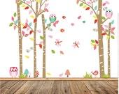 Wall Decals Nursery - Nursery wall decal - Birch Tree Decals - Baby Tree  Decal - Tree Decals - Nursery Wall Decals