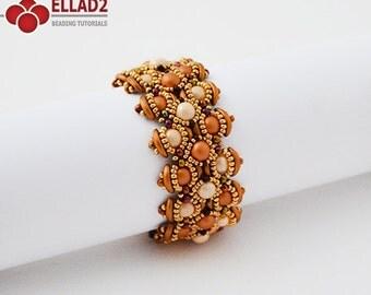 Tutorial Bracelet Letitia-Beading Tutorial, Beading Pattern, Bracelet tutorials, Instant download, Ellad2