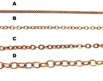 Copper Plated Chain for Customized Necklace, Choker, Bracelet, Anklet Jewelry