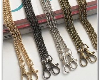 120cm purse chain (wide7.5mm) handbag chain with lobsters 4 color available Handbag Hardware Purse Supplies