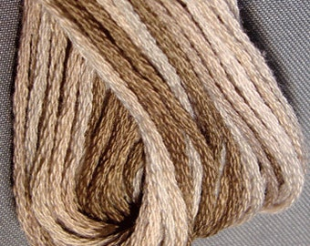 Valdani, 6 Strand Cotton Floss, P3, Aged White Medium, Embroidery Floss, Variegated Floss, Hand Dyed Floss, Wool Applique, Punch Needle