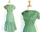1960s Drop Waist Dress - ...