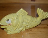 RESERVED FOR JADE - Vintage plastic baby rattle - fish - toy
