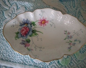 Crown Staffordshire Flowered Dish