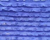 "Destash: 1/4"" Blue mini-ruffle fabric"