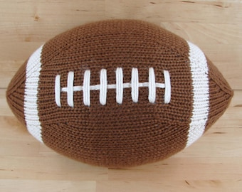 Large Hand-Knit Football- with stripes