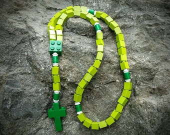 Lego Rosary - The Original Lego Rosary -  Green Catholic Rosary  (The St. Patrick)