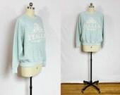 Vintage Italia sweatshirt heathered light blue Italy