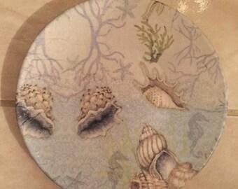Designer Plate (Small) - Blue Shells