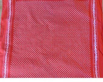 Vintage Red  Bandana Scarf with polka dots