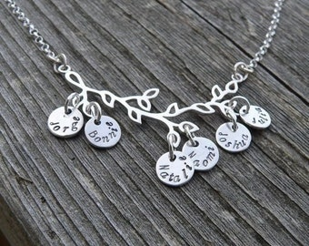 15% off - Branches of My Family...Sterling Necklace