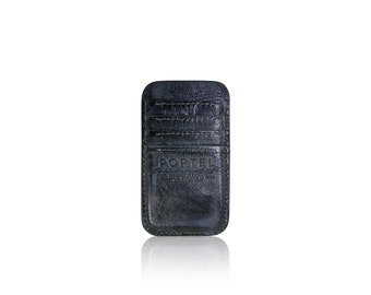 iPhone 6 RETROMODERN aged leather pocket - - BLACKMARINE