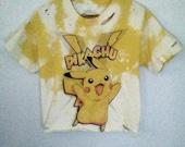 Crop Top / Pikachu / Pokemon Pikachu / Cartoon Graphic / Distressed / Cute Tee / Indie / Grunge / Rock N Roll / Festival / Gamer Girl