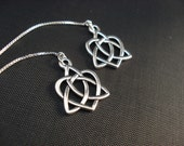 Celtic Open Hearts on Sterling Ear Threads-FREE SHIPPING TO U.S.- Threader Earrings