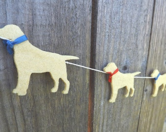 Golden Labrador Garland, Labrador art, Dog Garland, Dog Bunting, Gift for Labrador, Labrador Retreiver, Labrador, Dog Lovers Gift