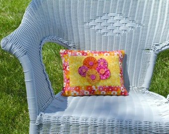 Girly Girl Quilted Pillow Cover with pillow insert