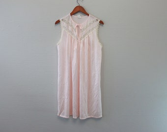 Vintage Pink Nighty nightgown By Deena