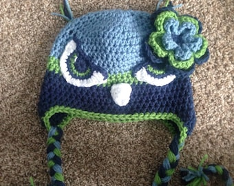 Adult size Seattle Seahawks inspired hat