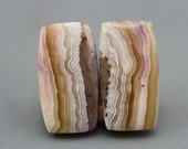 Crazy Lace Agate Matching Pair Cabochons