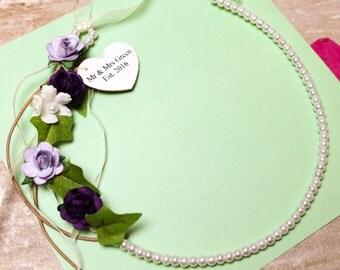 Woodland Floral Bridal Horseshoe