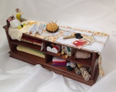 Dolls House Miniatures  - Sewing Counter / Bench