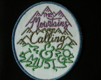 """The Mountains are Calling Iron on Patch 3.25""""x3.75"""""""