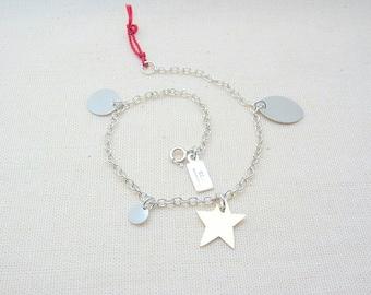 Star Charm Bracelet. Mixed Metal Bracelet. Boho Chic. Multi Charm Chain Bracelet. Bohemian Charm Bracelet - Starlight Bracelet