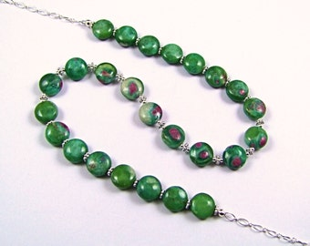 Ruby in Zoisite Sterling Silver Necklace - N865