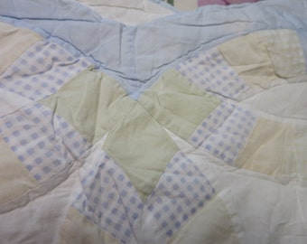 full size double wedding ring quilt