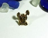 Gold Cheerleader Pin Vintage