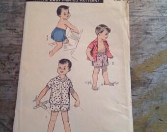 Vintage Sewing Pattern Advance 7873 Boy's Size 3 Shirt Shorts