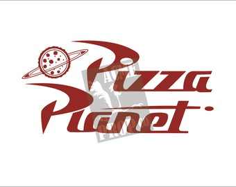 """Toy Story PIZZA PLANET logo poster  - custom created for any Toy Story Fan - 11"""" by 17"""""""